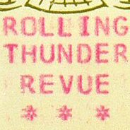 rolling thunder tour poster