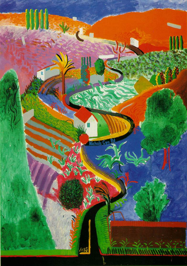 David hockney photography will never equal painting for Artistic mural works