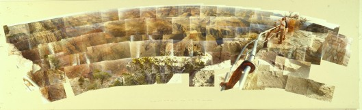 David-hockney-Grand-Canyon-South-Rim-with-Rail